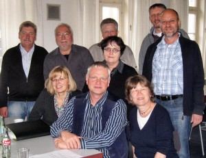 Manfred im Kreise der Vorstandskollegen bei einer Vorstandsschulung